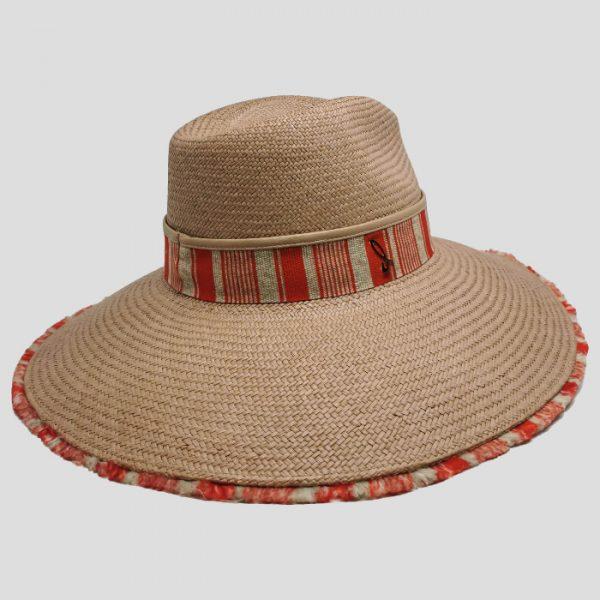 Cappello ala larga marrone