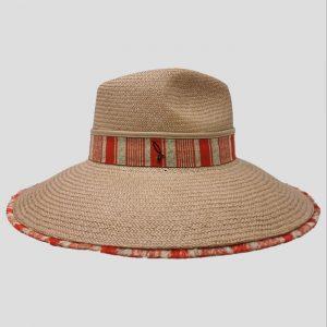 Cappello Panama Cuenca ad Ala Larga Modello Drop con Cinta Tricolore