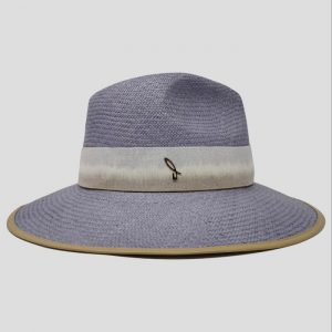 Cappello Panama Cuenca ad Ala Larga Modello Drop con Cinta in Tessuto