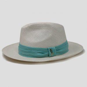 Cappello Panama ad Ala Media Modello Fedora con Cinta in Lino