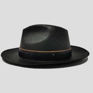 Cappello Panama Modello Drop ad Ala Media con Cinta di Cuoio e Borchie