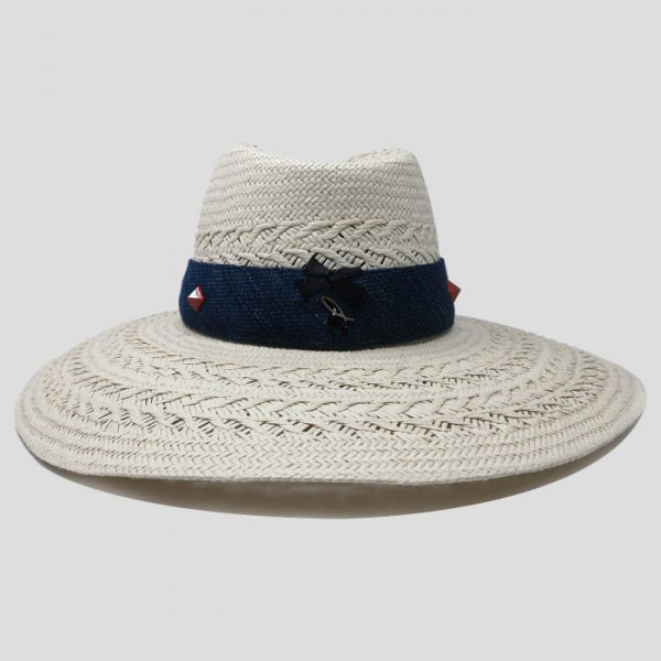 Cappello da donna cinta denim blu