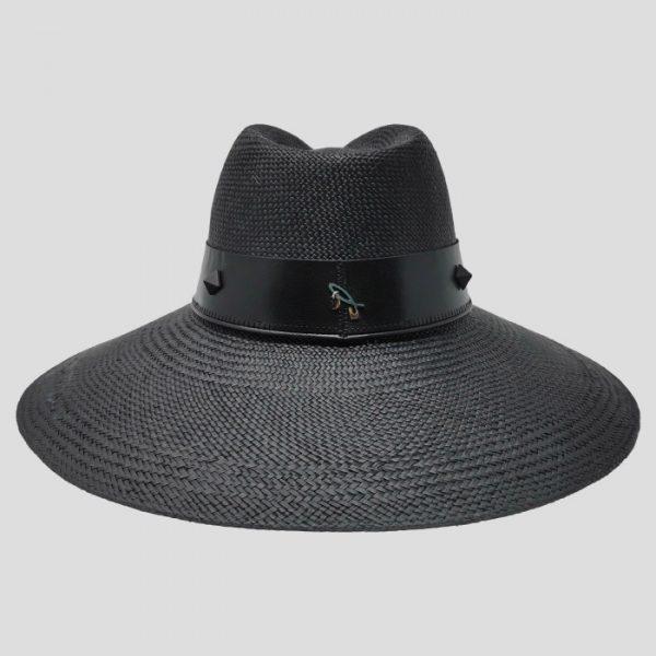 Cappello Nero ad Ala Larga