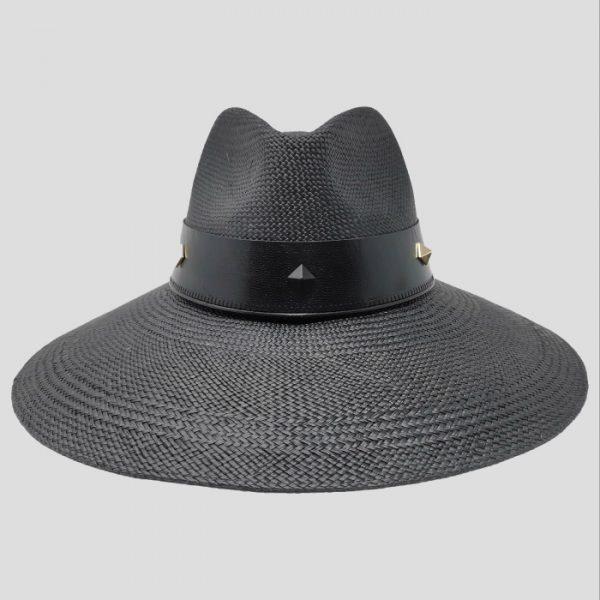 Cappello Panama Nero da Donna