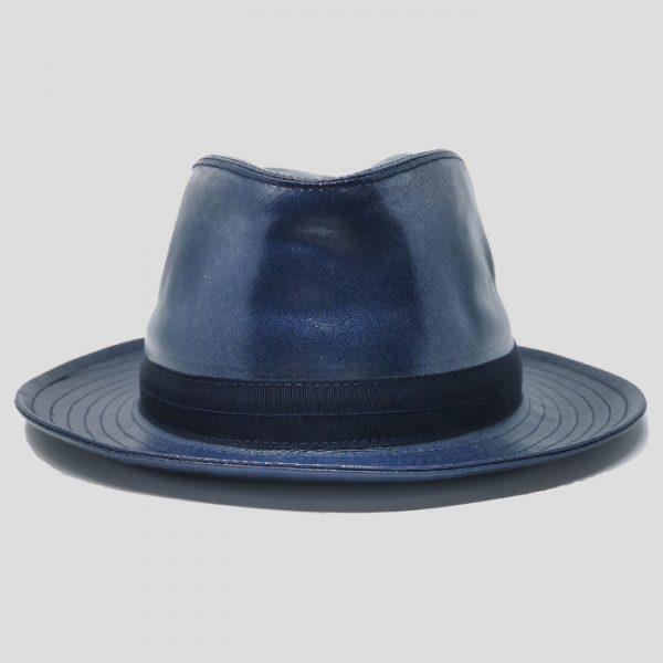 Cappello Drop ad Ala Media in Tessuto Waterproof con Cinta Gros Grain