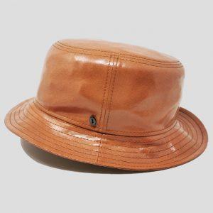 Cappello Bucket ad Ala Piccola in Tessuto Canvas Antipioggia