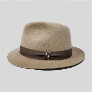 Cappello Fedora in Feltro color cammello