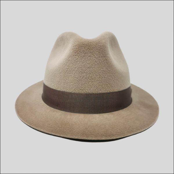 Cappello Fedora con cinta grosgrain