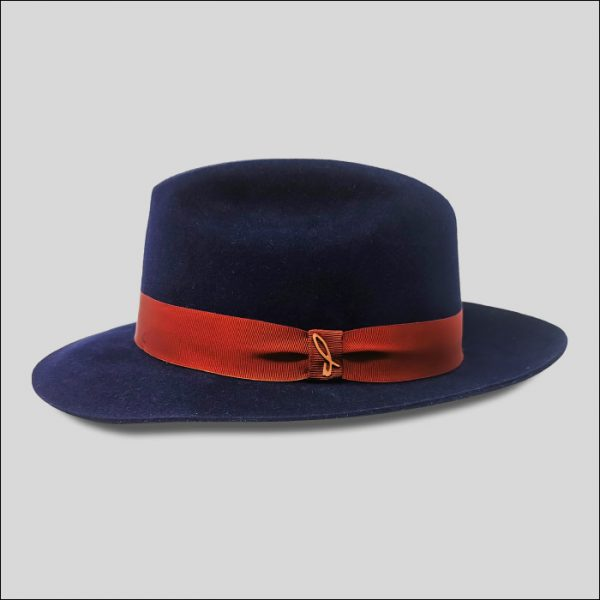 Fedora cappello in feltro blu