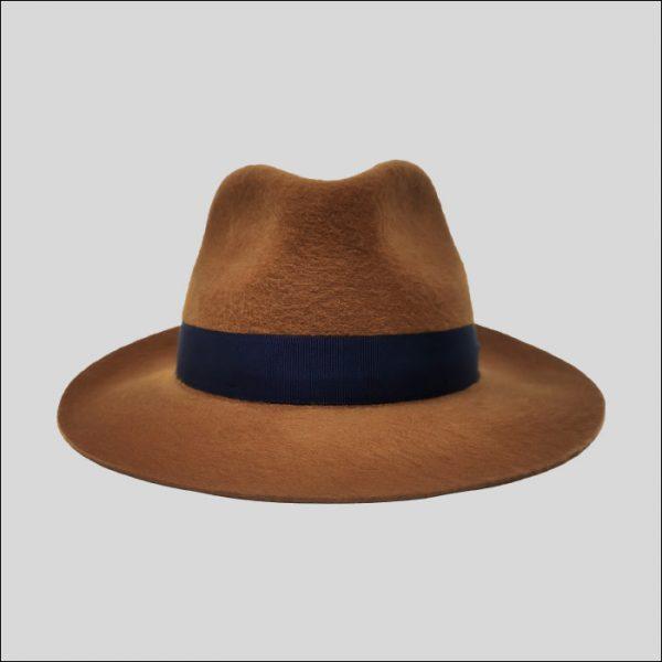 cappello drop marrone con cinta