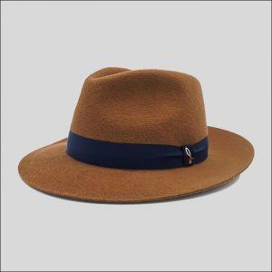 Cappello drop ala media in feltro di lana satin modello drop