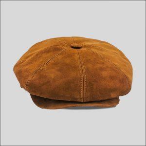 berretto irlandese in pelle scamosciata