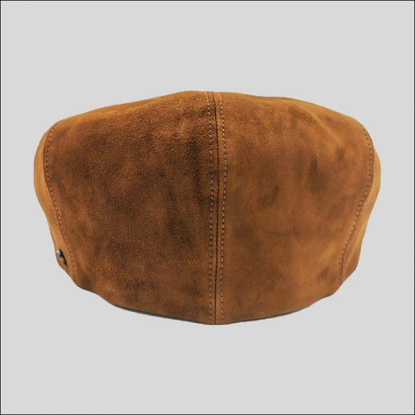 retro berretto irlandese in pelle marrone