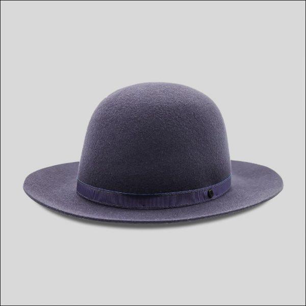 cappello roller a cupola libera in feltro di lana modello roller