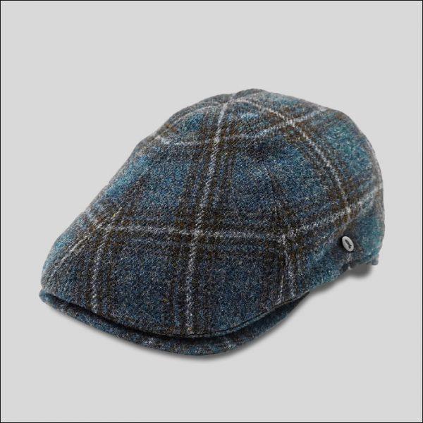 berretto a spicchi in tessuto scozzese