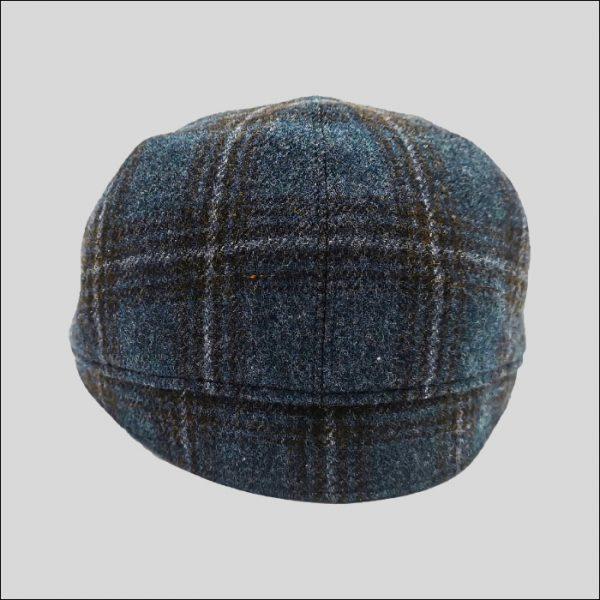 retro berretto tessuto scozzese blu