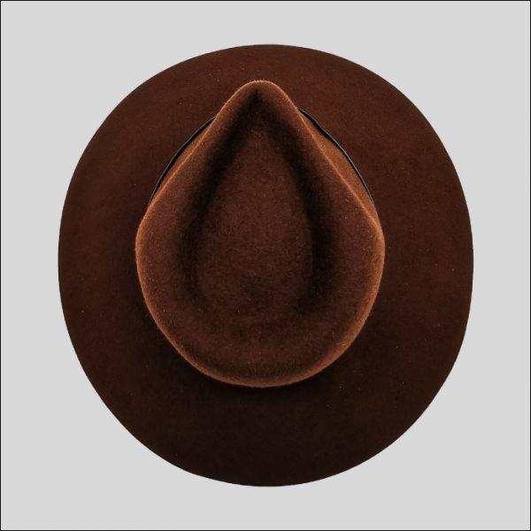 Forma Cappello Drop Ala Larga da Donna Marrone