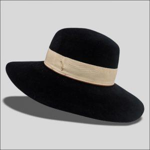 Cappello ad Ala Larga in feltro velour modello Jeanne