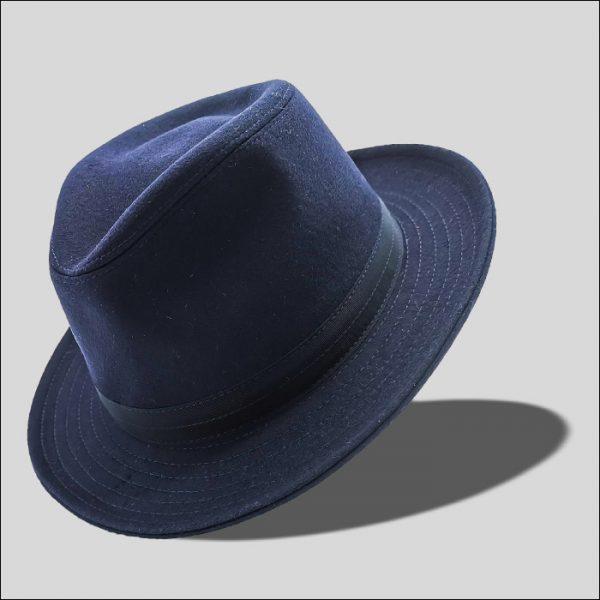 cappello drop ad ala media blu modello zefiro