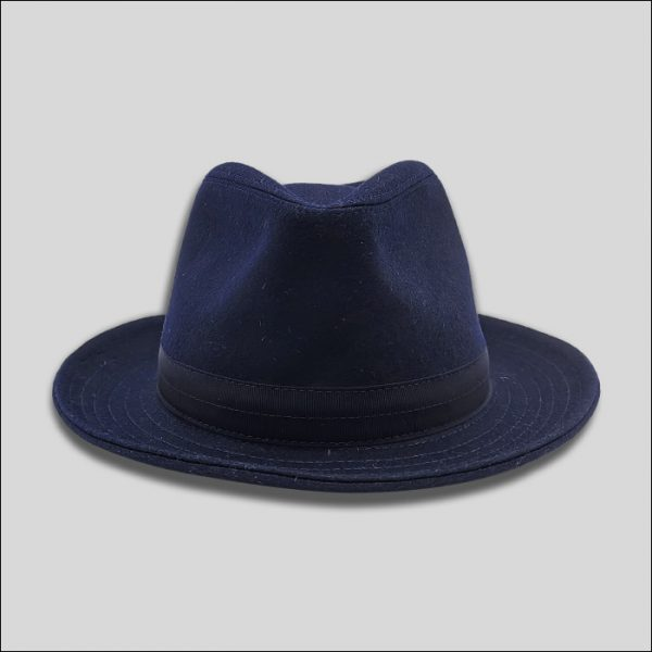cappello drop in lana e cashmere blu