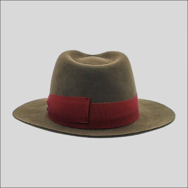 Cappello Drop con cinta e fiocco doria rosso