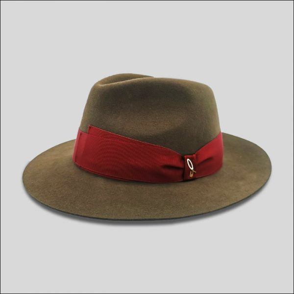 Cappello Drop con cinta Grosgrain rossa