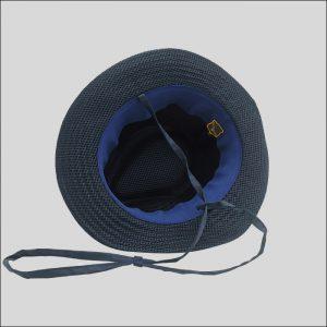 Interno cappello drop tessuto impermeabile blu