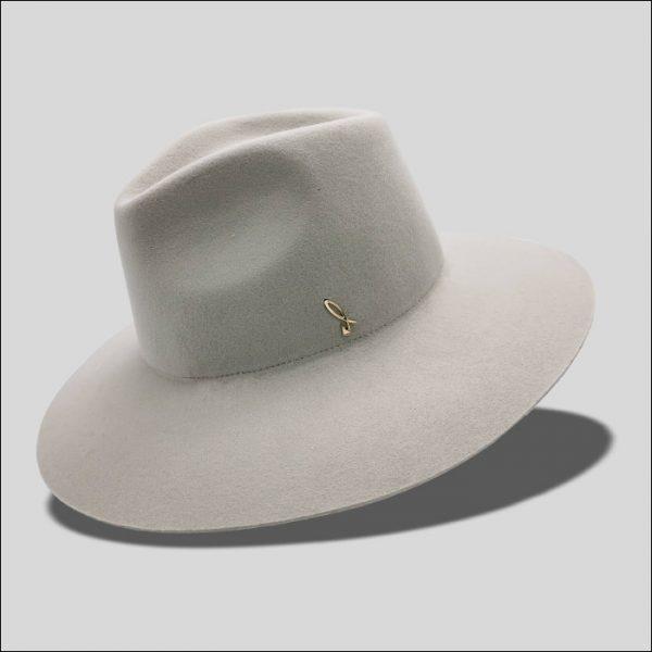 Cappello Drop Ala Larga in Feltro di Lana Modello Ernest