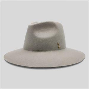 Cappello Grigio ad Ala Larga