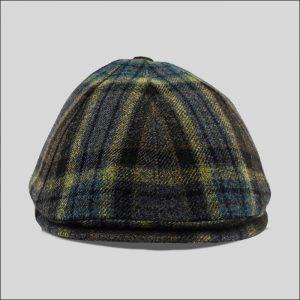 berretto ad otto spicchi in tessuto scozzese