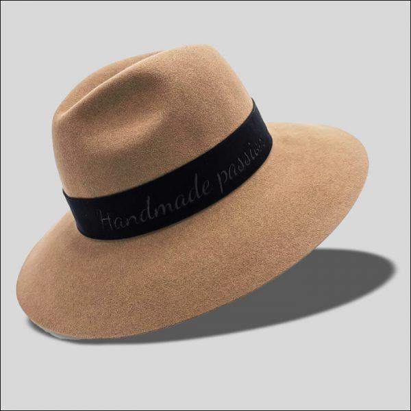 Cappello Drop ad ala larga con cinta in velluto Icon modello Torpedo