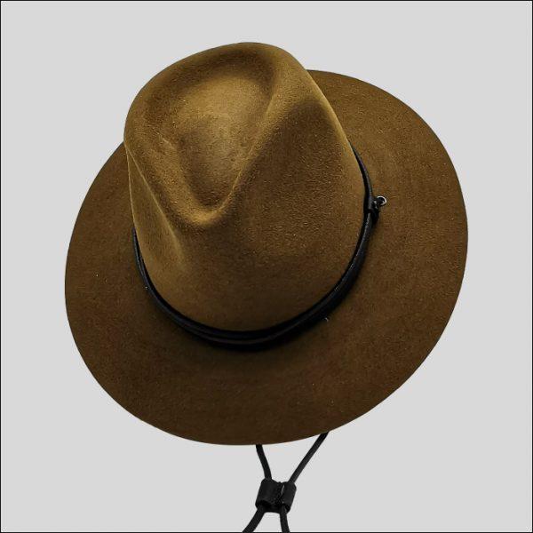 Cappello Texano con cinta e laccio in pelle