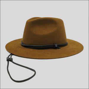 Cappello Drop con cinta e sottogola in cotone cerato e pelle modello Hoodoo