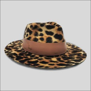 Cappello ala media da Donna con cinta di cuoio