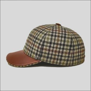Cappello da Baseball con visiera in pelle
