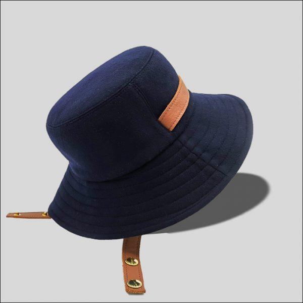 Cappello bucket arrotolabile e reversibile in tessuto modello Orano