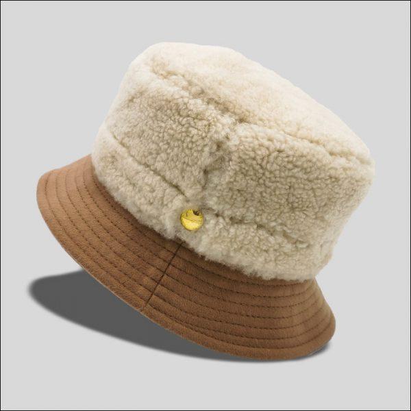 Cappello Bucket Reversibile in Montone e Lana Modello Vadim