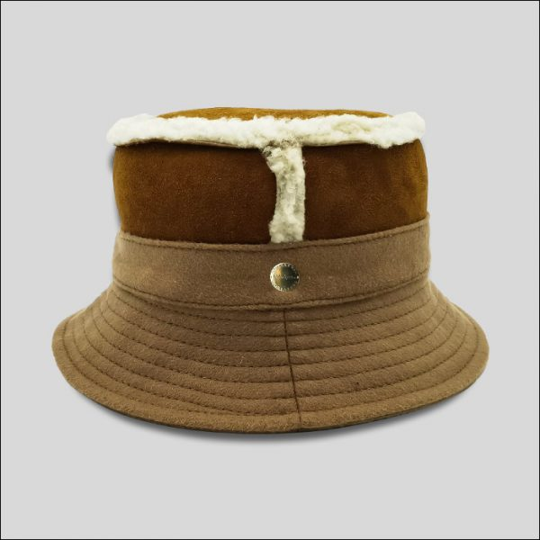 Cappello Bucket marrone
