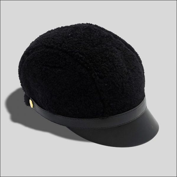 New Cap in Montone Nero Modello Nikita