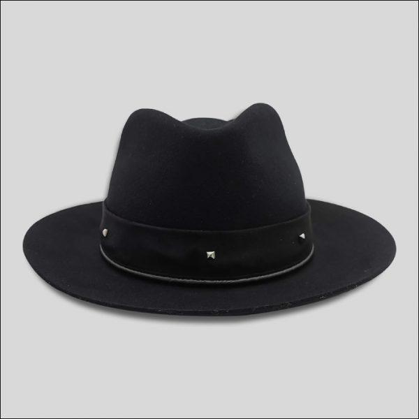 Cappello Drop Nero con cinta suede