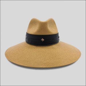 Cappello Fedora con cinta di cuoio modello Trocadero