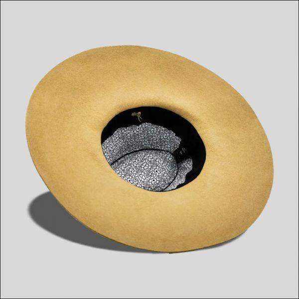 Interno cappello fedora da donna beige
