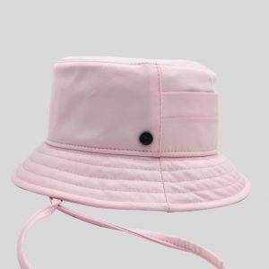 Cappello Bucket rosa in tessuto tecnico