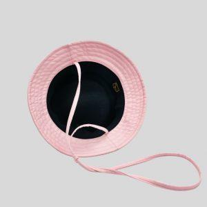 Cappello Bucket rosa con laccio regolatore